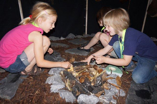 KinderSteinzeitNacht im Neanderthal Museum