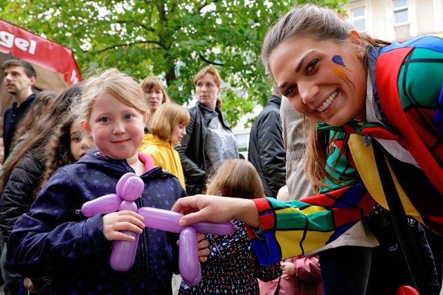 Duisburger Wochenmarkt-Kindertag