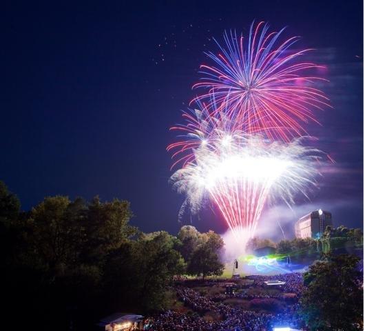 Sommernacht und Feuerwerk