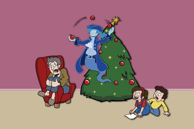 Ein Gespenst unterm Weihnachtsbaum_