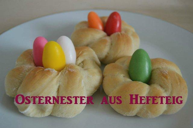 Osternester aus Hefeteig