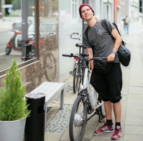 Geliefert wird mit Fahrrad oder E-Bike