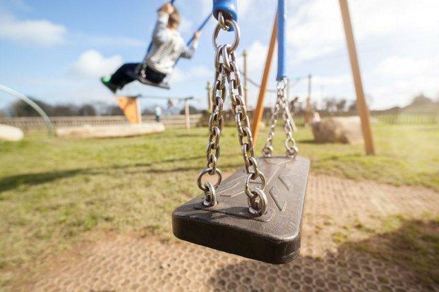 Spielplatz mit Einschränkungen