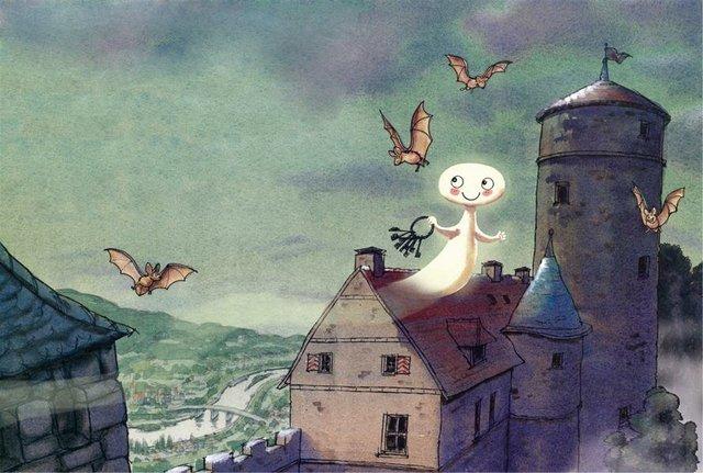 08 Illustration von Daniel Napp aus Otfried Preußler, Das kleine Gespenst.JPG