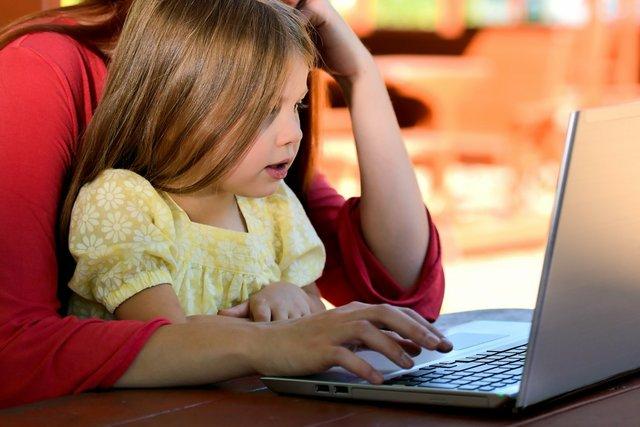 Eltern, Computer, digital, Homeschooling