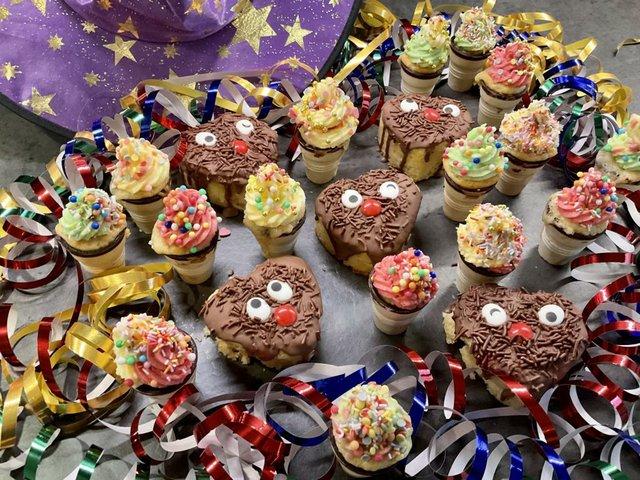 Karnevalsmuffins