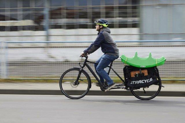 Verlängerter Gepäckträger für Fahrrad und E-Bike